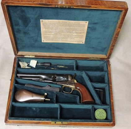 Cased Colt 1862 Police .36 Caliber Percussion Revolver S/N 11029