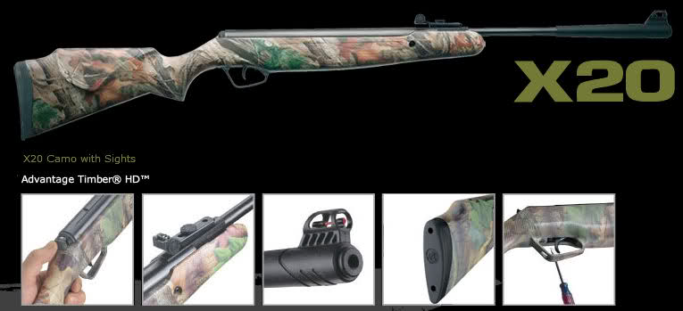 Stoeger Model x20 .177 Caliber Camo Stock Airgun Air Rifle NIB