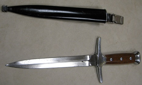 Post WWII Swiss Officer Dagger & Scabbard S/N 20656