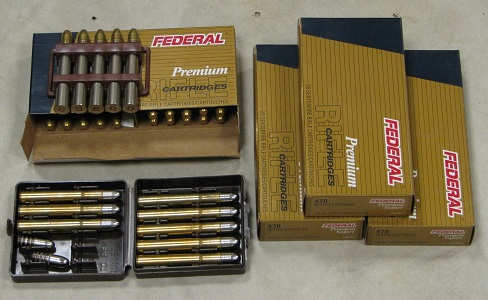 Federal Premium Trophy Bonded Solid 500 Grain 470 N.E.