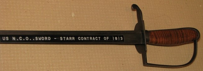 U.S. N.C.O. Sword 1813 STARR Contract